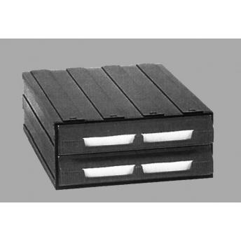 Caja plastico ensamblable con cajones y cajitas entomopraxis for Cajones plasticos apilables