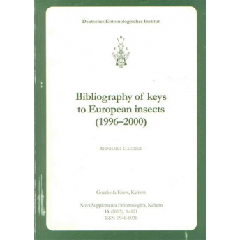 GAEDIKE - BIBLIOGRAPHY OF KEYS TO EUROPEAN INSECTS (1996 - 2000)