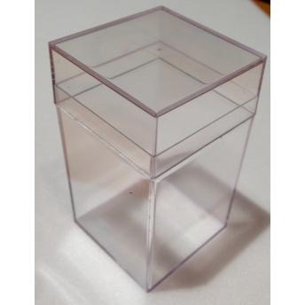 CAJITA DE PLASTICO CON FONDO DE EMALENE 4,5x4,5x8,2 cm