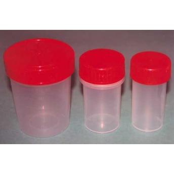 FRASCO TRANSPARENTE TAPON PLASTICO ROJO 40 ml