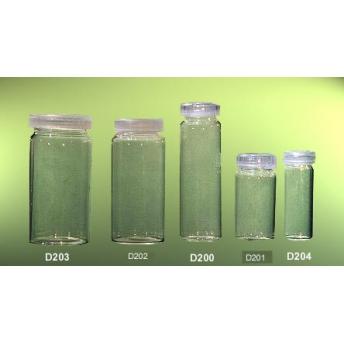 CAJA DE FRASCOS VIDRIO TAPON PLASTICO 30 ml