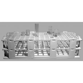 GRADILLA DE PLASTICO PARA 60 TUBOS 16 mm, ALTURA 60 mm