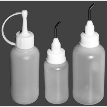 BOTELLA DE PLASTICO 125 ml CON DISPENSADOR METALICO
