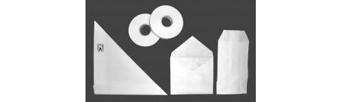 Tiras de papel y alfileres para extendedores